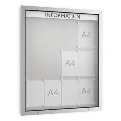 05. Economy-Schaukasten - 12x DIN A4 eloxiert alu-silber E12